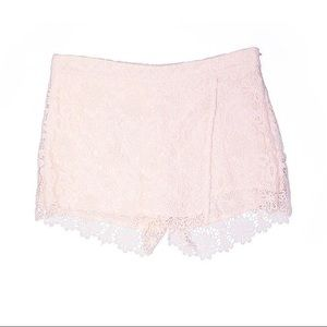Zara White Lace Skort / shorts XS